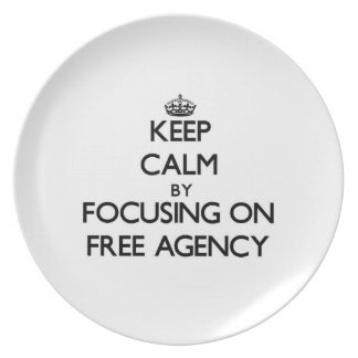 Keep Calm by focusing on Free Agency Dinner Plate