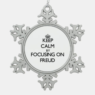 Keep Calm by focusing on Freud Snowflake Pewter Christmas Ornament