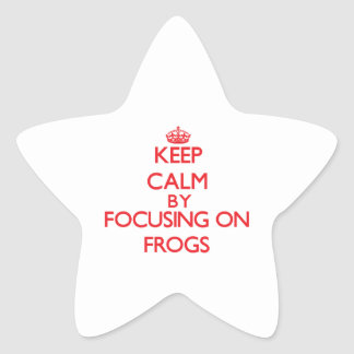 Keep calm by focusing on Frogs Stickers