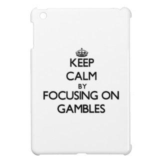 Keep Calm by focusing on Gambles iPad Mini Cases