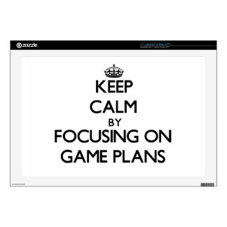 Keep Calm by focusing on Game Plans Skins For Laptops