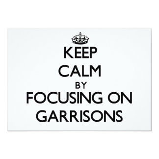 Keep Calm by focusing on Garrisons Announcement