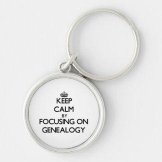 Keep Calm by focusing on Genealogy Keychains