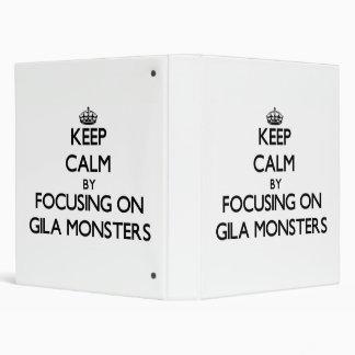Keep Calm by focusing on Gila Monsters Vinyl Binder