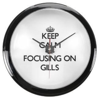 Keep Calm by focusing on Gills Aqua Clocks