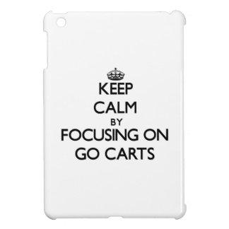 Keep Calm by focusing on Go Carts iPad Mini Covers
