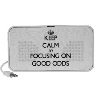 Keep Calm by focusing on Good Odds Travelling Speaker