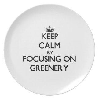 Keep Calm by focusing on Greenery Party Plates