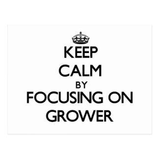 Keep Calm by focusing on Grower Postcard