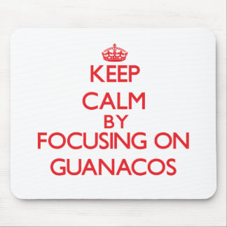 Keep calm by focusing on Guanacos Mouse Pads