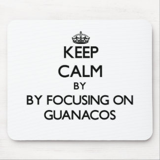 Keep calm by focusing on Guanacos Mousepad