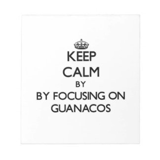Keep calm by focusing on Guanacos Memo Pads