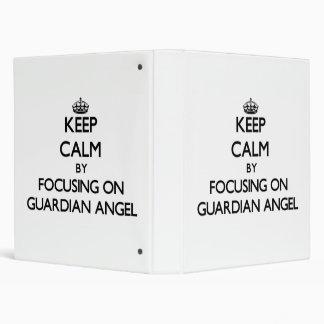 Keep Calm by focusing on Guardian Angel Vinyl Binders