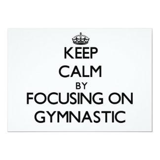 Keep Calm by focusing on Gymnastic 5x7 Paper Invitation Card