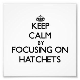 Keep Calm by focusing on Hatchets Photograph
