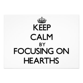 Keep Calm by focusing on Hearths Personalized Announcements