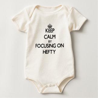 Keep Calm by focusing on Hefty Baby Bodysuits