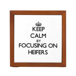 Keep Calm by focusing on Heifers Desk Organizer