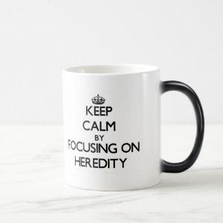 Keep Calm by focusing on Heredity Coffee Mugs