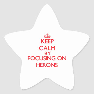 Keep calm by focusing on Herons Star Sticker