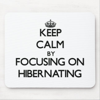 Keep Calm by focusing on Hibernating Mouse Pad