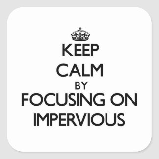 Keep Calm by focusing on Impervious Sticker