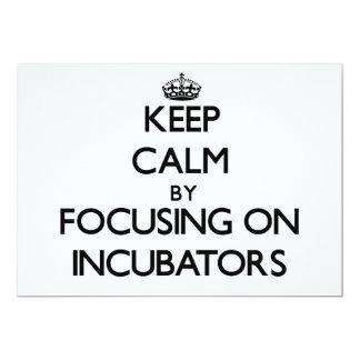 Keep Calm by focusing on Incubators Card