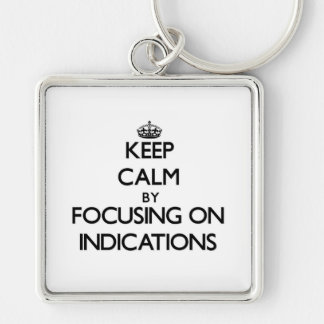 Keep Calm by focusing on Indications Keychains