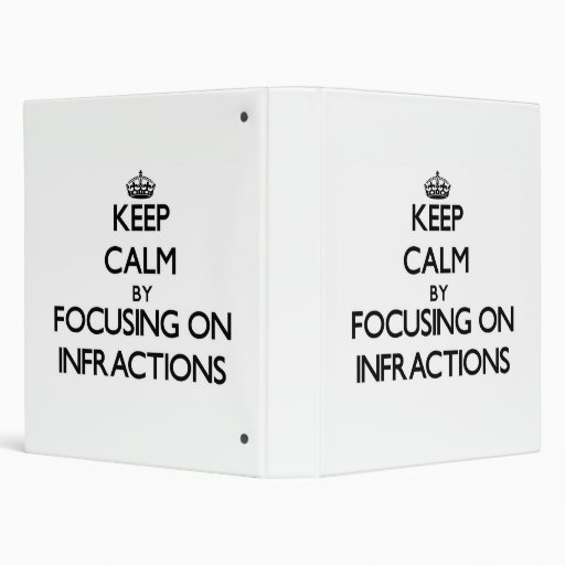 Keep Calm by focusing on Infractions Binder