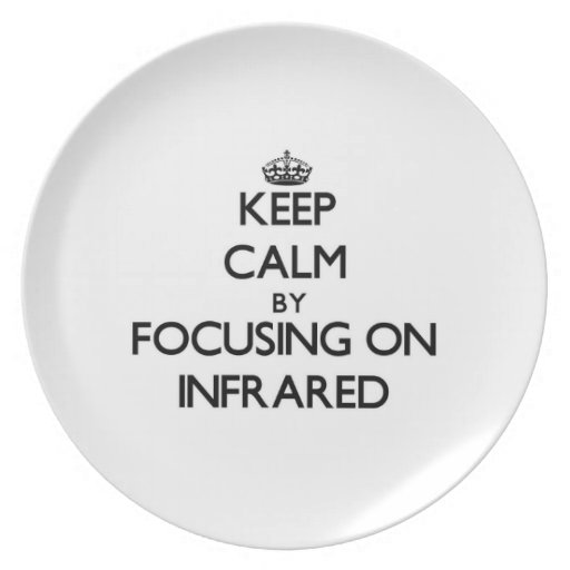 Keep Calm by focusing on Infrared Dinner Plate