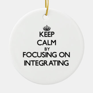 Keep Calm by focusing on Integrating Double-Sided Ceramic Round Christmas Ornament