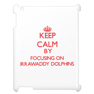 Keep calm by focusing on Irrawaddy Dolphins Cover For The iPad