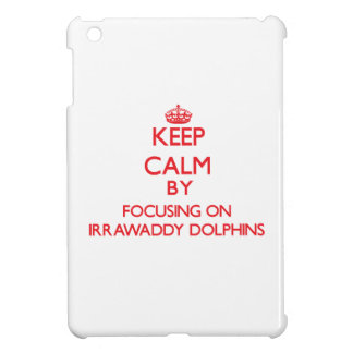 Keep calm by focusing on Irrawaddy Dolphins iPad Mini Cases