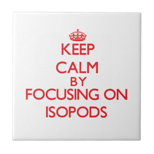 Keep calm by focusing on Isopods Ceramic Tile