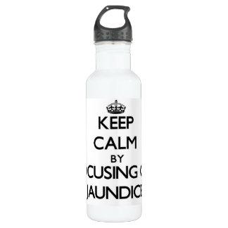 Keep Calm by focusing on Jaundice 24oz Water Bottle