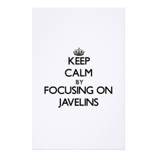 Keep Calm by focusing on Javelins Personalized Stationery