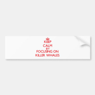 Keep calm by focusing on Killer Whales Bumper Stickers
