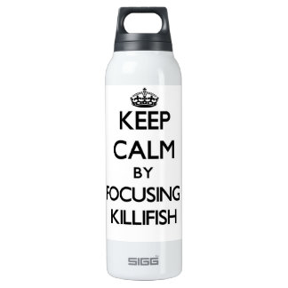 Keep calm by focusing on Killifish 16 Oz Insulated SIGG Thermos Water Bottle