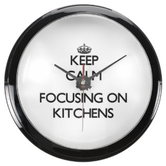 Keep Calm by focusing on Kitchens Fish Tank Clocks