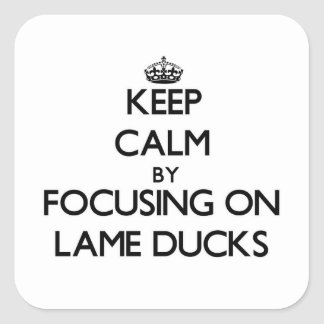 Keep Calm by focusing on Lame Ducks Square Sticker