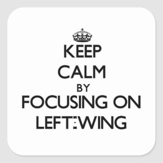 Keep Calm by focusing on Left-Wing Sticker