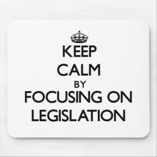 Keep Calm by focusing on Legislation Mouse Pad
