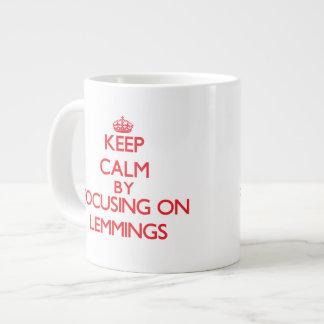 Keep calm by focusing on Lemmings 20 Oz Large Ceramic Coffee Mug