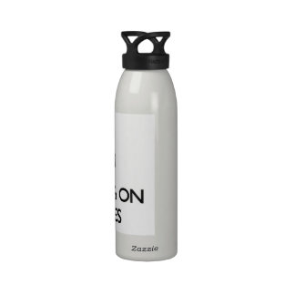 Keep Calm by focusing on Licenses Reusable Water Bottle