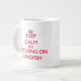 Keep calm by focusing on Lungfish Jumbo Mugs