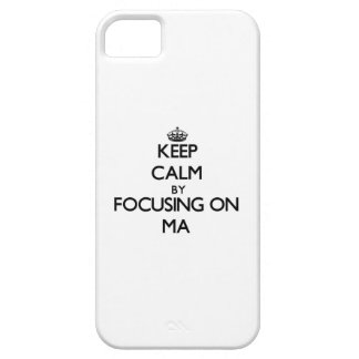 Keep Calm by focusing on Ma iPhone 5 Cover