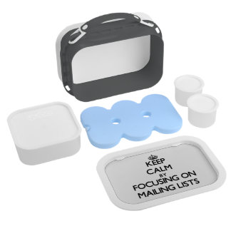 Keep Calm by focusing on Mailing Lists Lunch Box