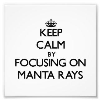 Keep Calm by focusing on Manta Rays Photograph