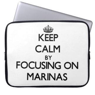 Keep Calm by focusing on Marinas Laptop Computer Sleeve