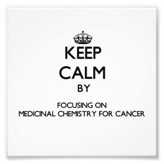 Keep calm by focusing on Medicinal Chemistry For C Photo Print